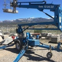 2014 Electric Genie TZ34 20 Trailer Mounted