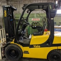 2014 Diesel Yale GDP060 Pneumatic Tire 4 Wheel Sit Down