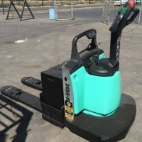 2012 Electric Mitsubishi PWR30A Electric Walkie Rider Pallet Jack