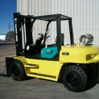 2001 LP Gas Komatsu FG70-7 Pneumatic Tire 4 Wheel Sit Down