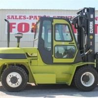 2015 Diesel Clark C70D Pneumatic Tire 4 Wheel Sit Down