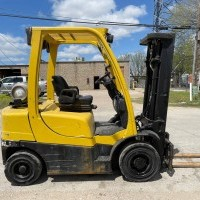 2010 LP Gas Hyster H50FT Pneumatic Tire 4 Wheel Sit Down