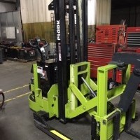 2002 Electric Clark CSP15 Electric Walkie Straddle Stacker Reach